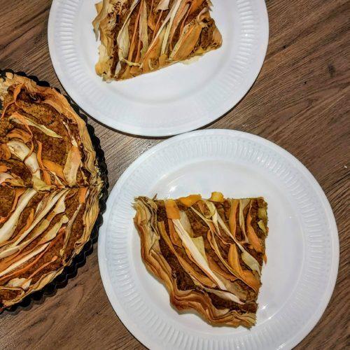 Hummusový tart